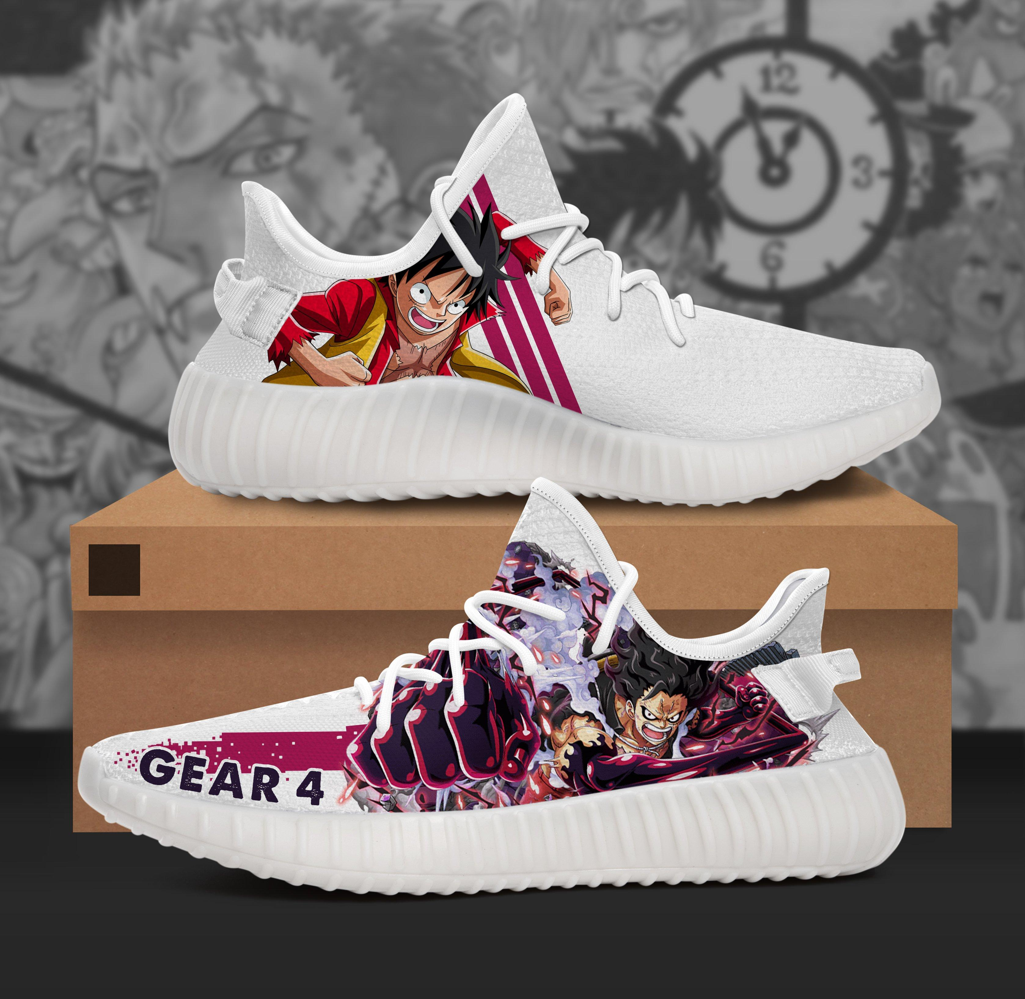 Monkey D. Luffy Character One Piece Anime Adidas Yeezy Boost