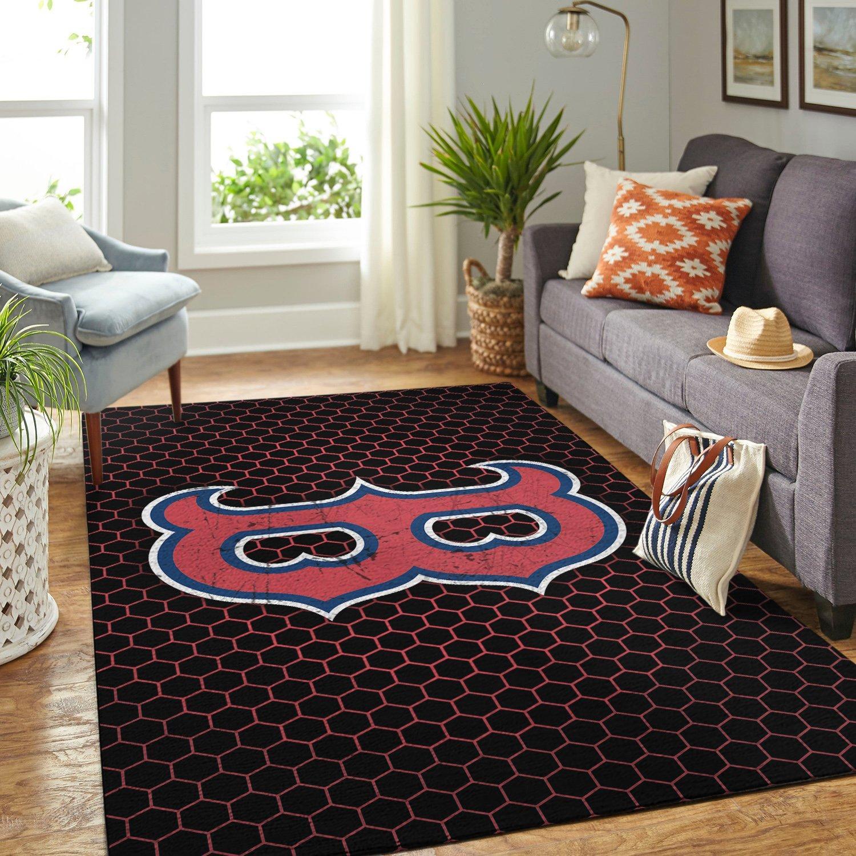 Home Decor Boston: Boston Red Sox MLB Rug Room Carpet Sport Custom Area Floor