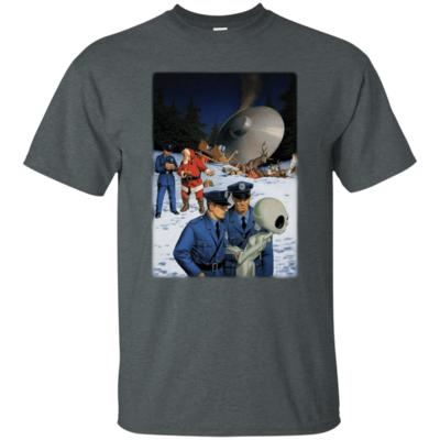 Accident Santa Clause vs Alien UFO Funny T-Shirt