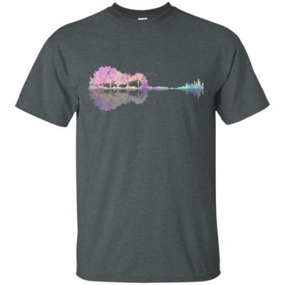 Colorful Guitar Lake Shadow Love Guitar Musician T-Shirt