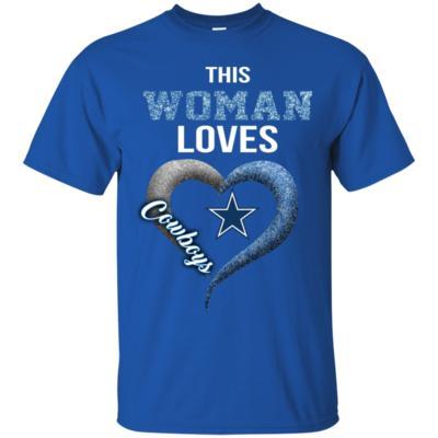 This Woman love Cowboys NFL football team T-Shirt