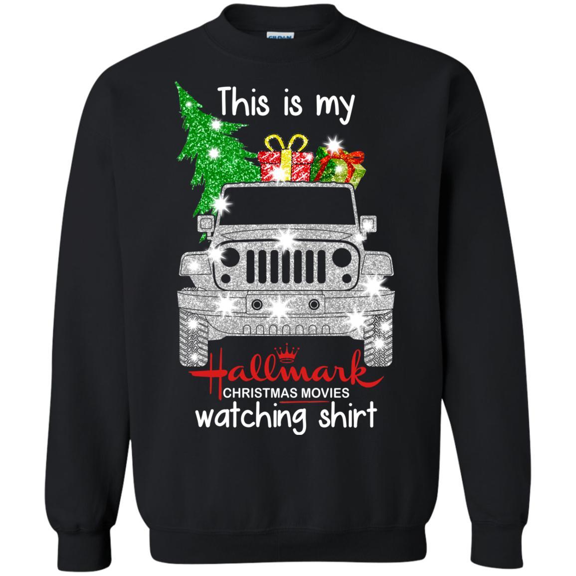 This Is My Jeep Hallmark Christmas movie Watching Sweatshirt