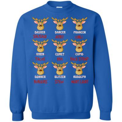 Funny Deer Hunting Reindeer Christmas Sweatshirt
