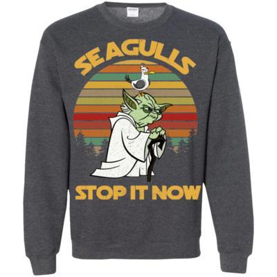 Star Wars Yoda Seagulls Stop It Now Vintage Sweatshirt