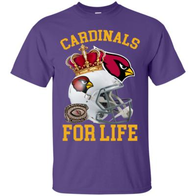 Cardinals For Life King Football Helmet T-Shirt