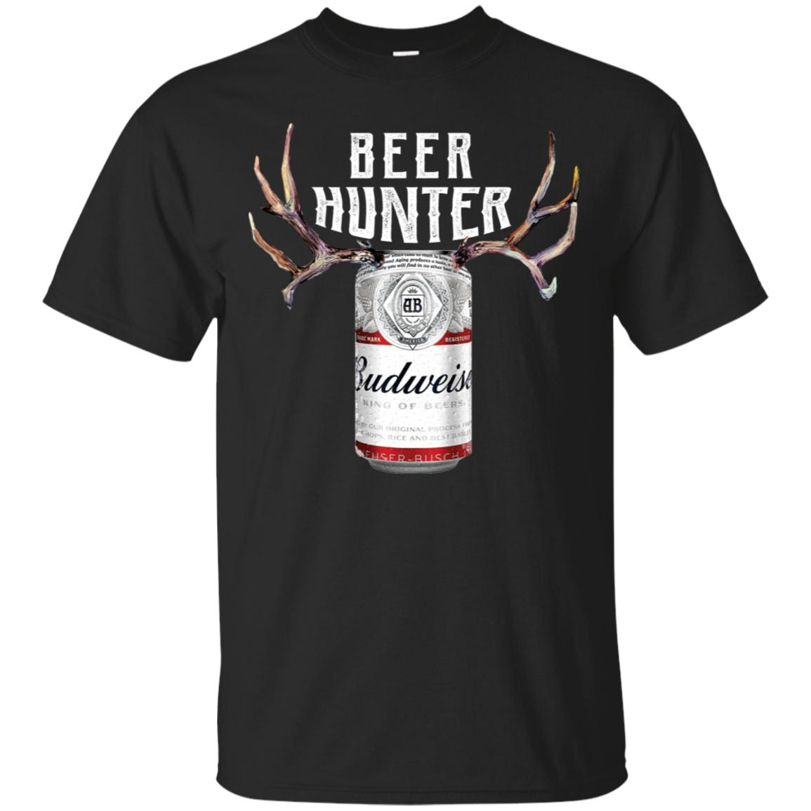 Beer Hunter Budweiser Funny Hunting Beer Reindeer T-Shirt