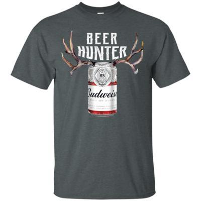 Beer Hunter Budweiser Funny Hunting Beer Reindeer T-Shirt