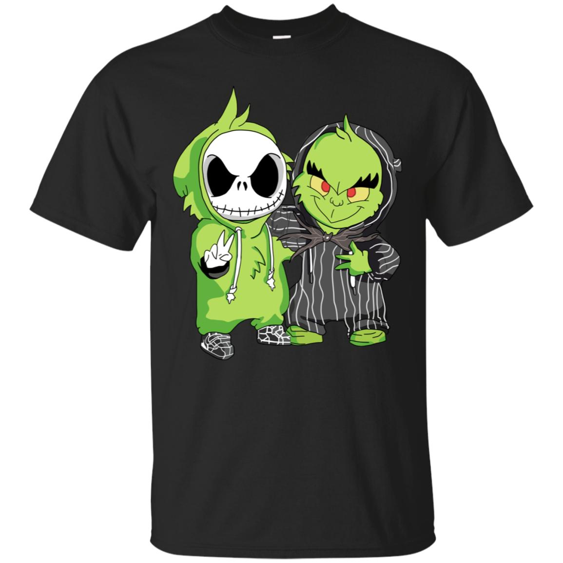 Grinch And Jack Skellington Funny Costume T-Shirt