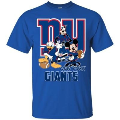 Disney Mickey, Donald and Goofy are Giants Fan Funny Football T-Shirt