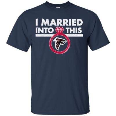 Sparkle Diamond Ring I Married Into This Falcons Football Fan T-Shirt