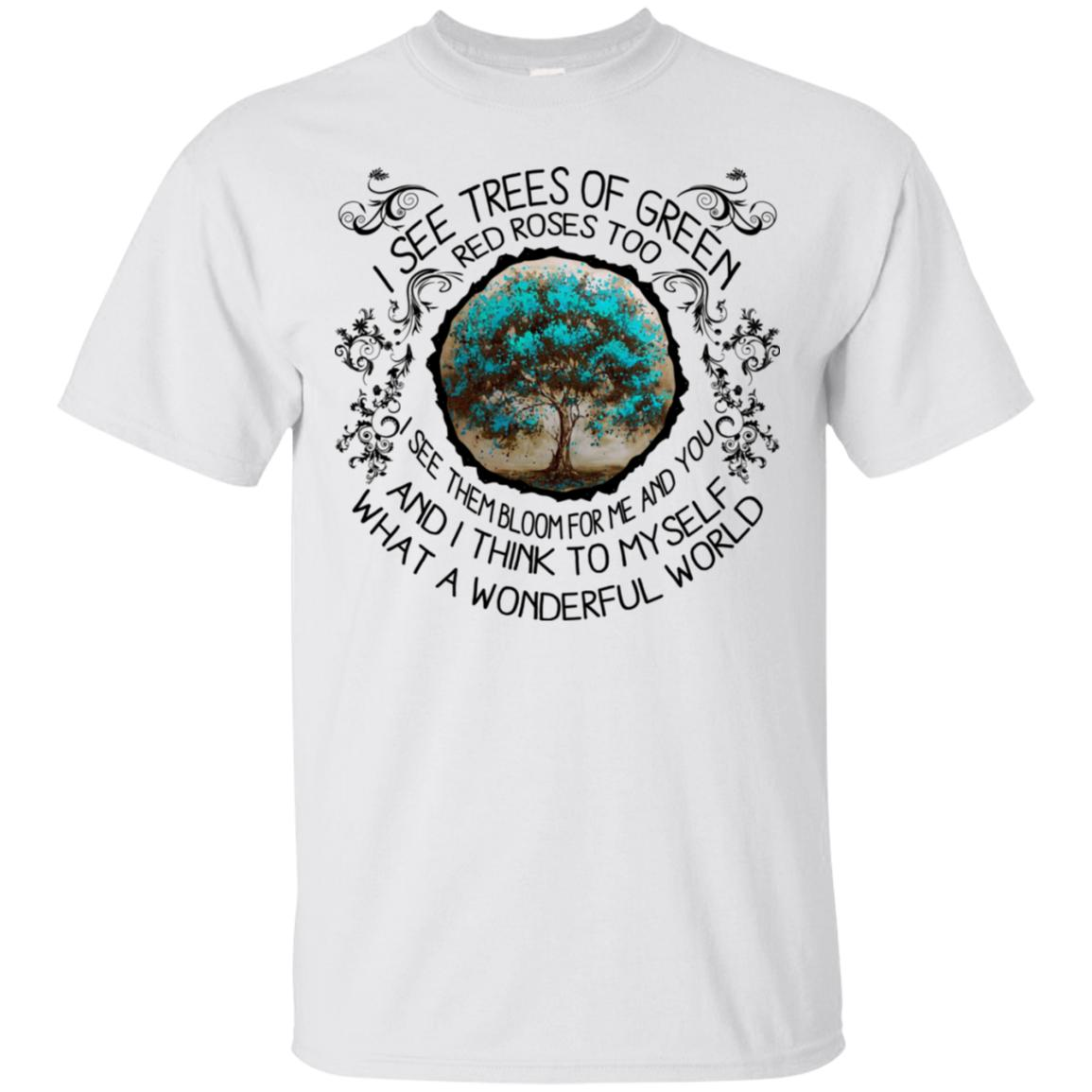 I See Trees Of Green Red Roses Too Louis Armstrong T-shirt KA02