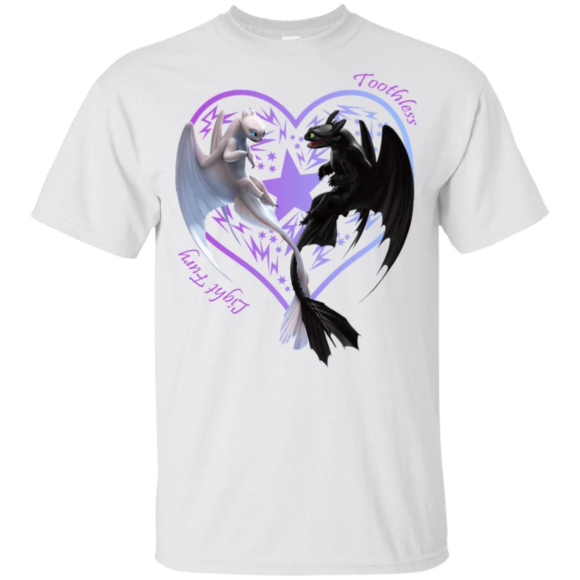 How To Train Dragon Toothless & Light Fury In Love Youth T-shirt