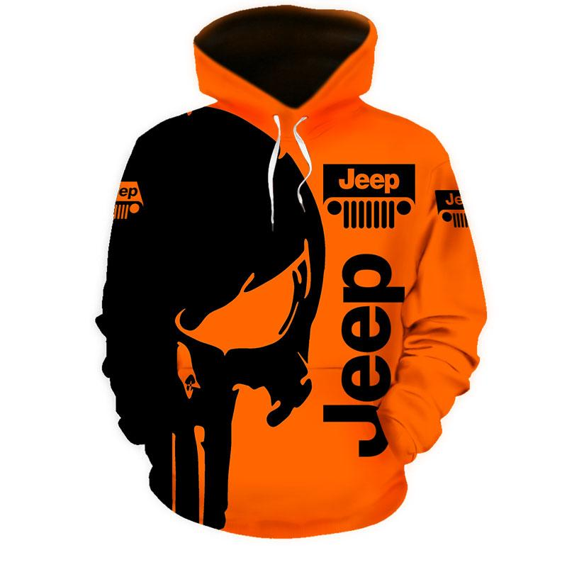 Badass version Jeep skull 3d hoodie, 3d polo and 3d long-pant