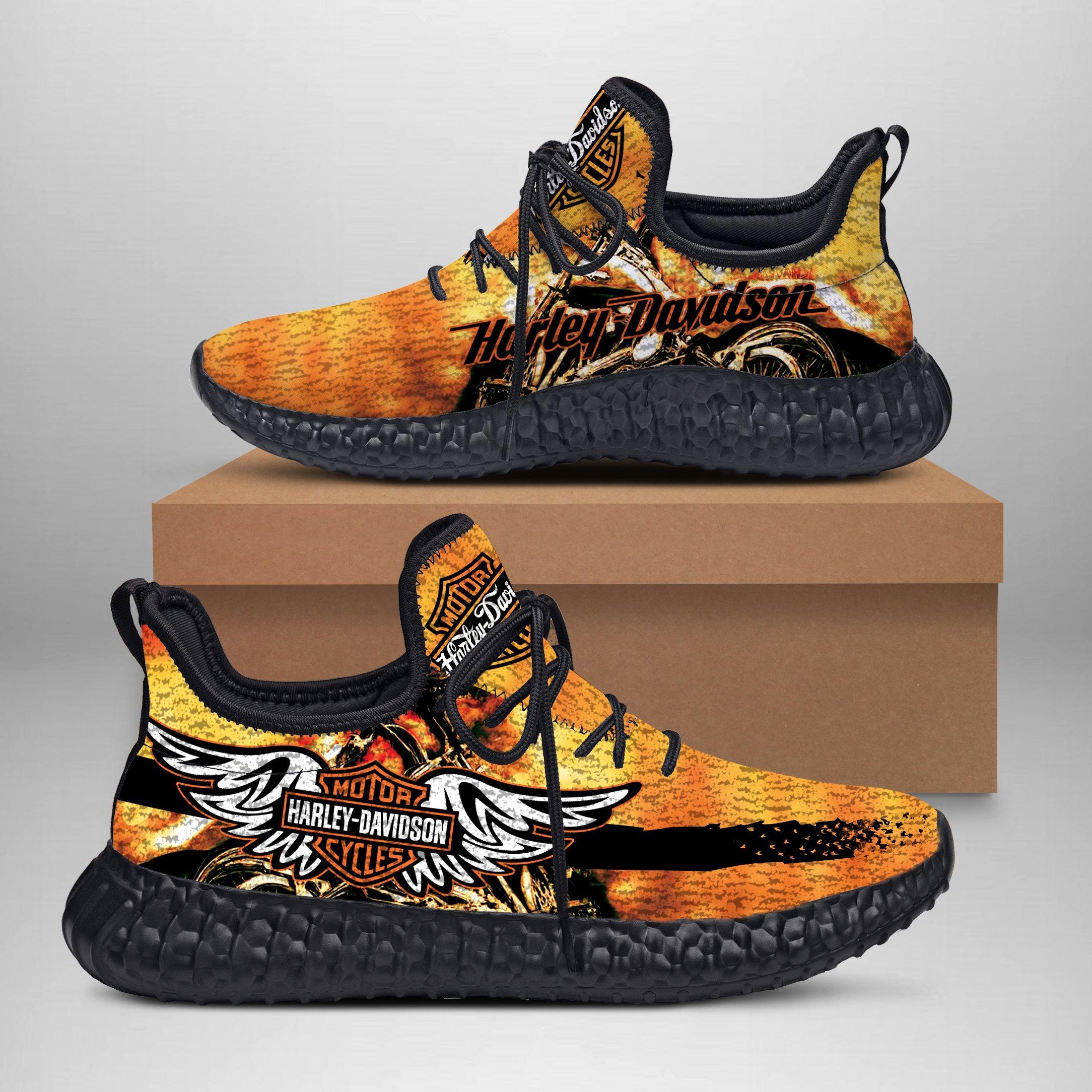 Harley Davidson Yeezy Shoes for Fans