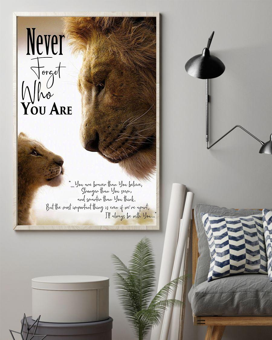 Never forget who you are lion king poster