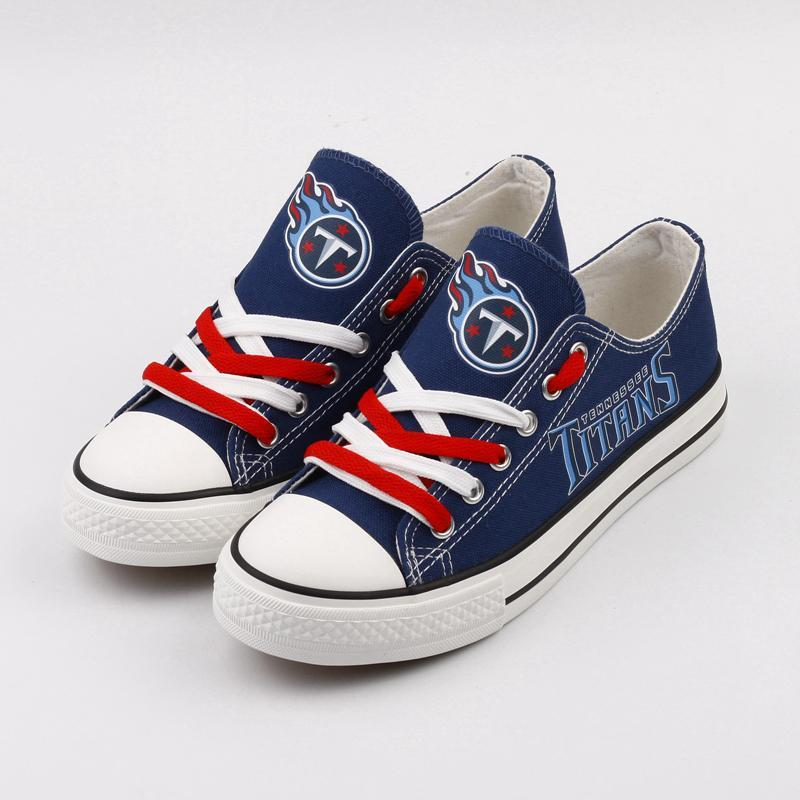 Tennessee Titans Women'-s Shoes Low Top Canvas