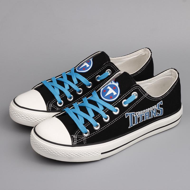 Tennessee Titans Shoes Mens Low Top Canvas