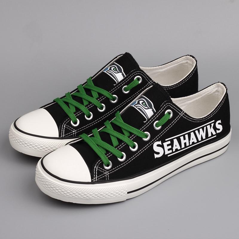 Seattle Seahawks Women'-s Shoes Low Top Canvas