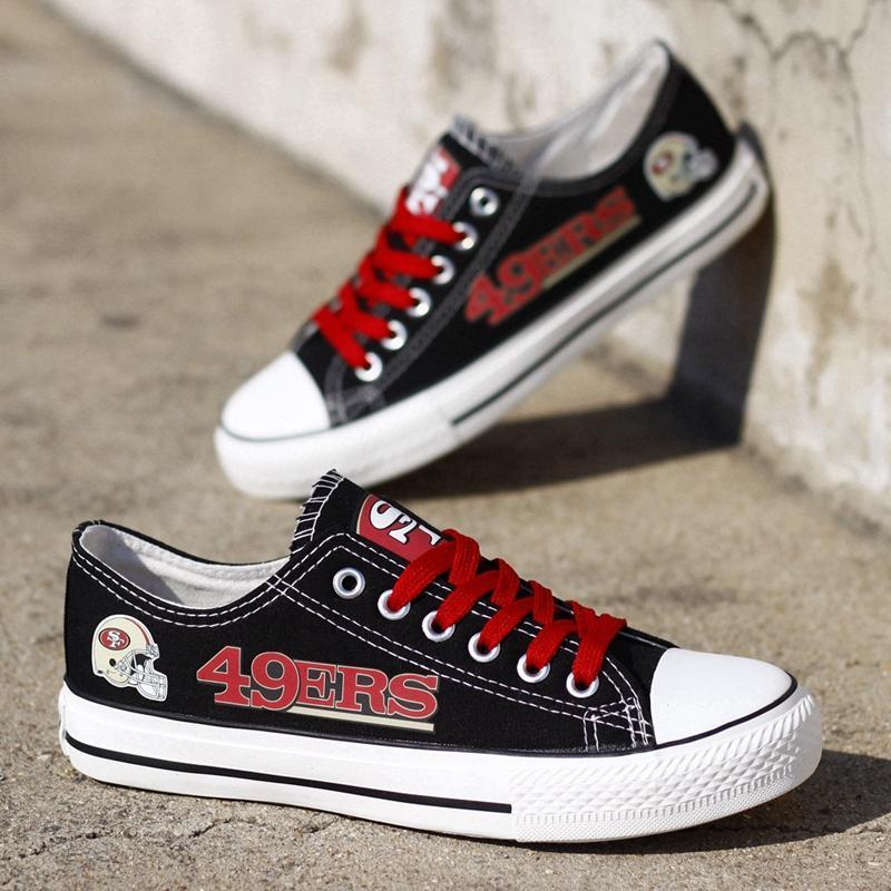 San Francisco 49ers Women'-s Shoes Low Top Canvas