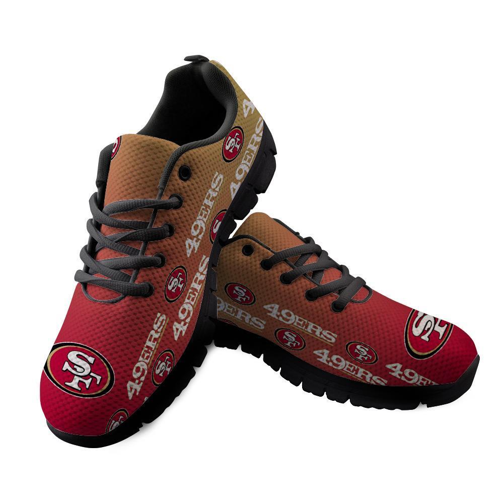 San Francisco 49ers Sneakers Repeat Print Logo Low Top