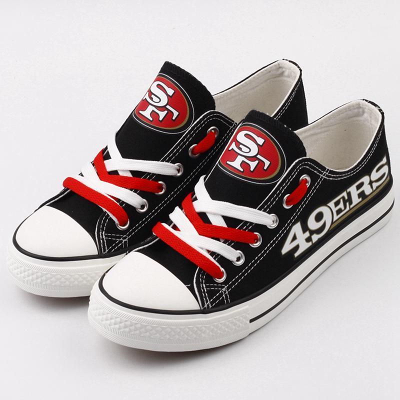 San Francisco 49ers Mens Shoes Low Top Canvas