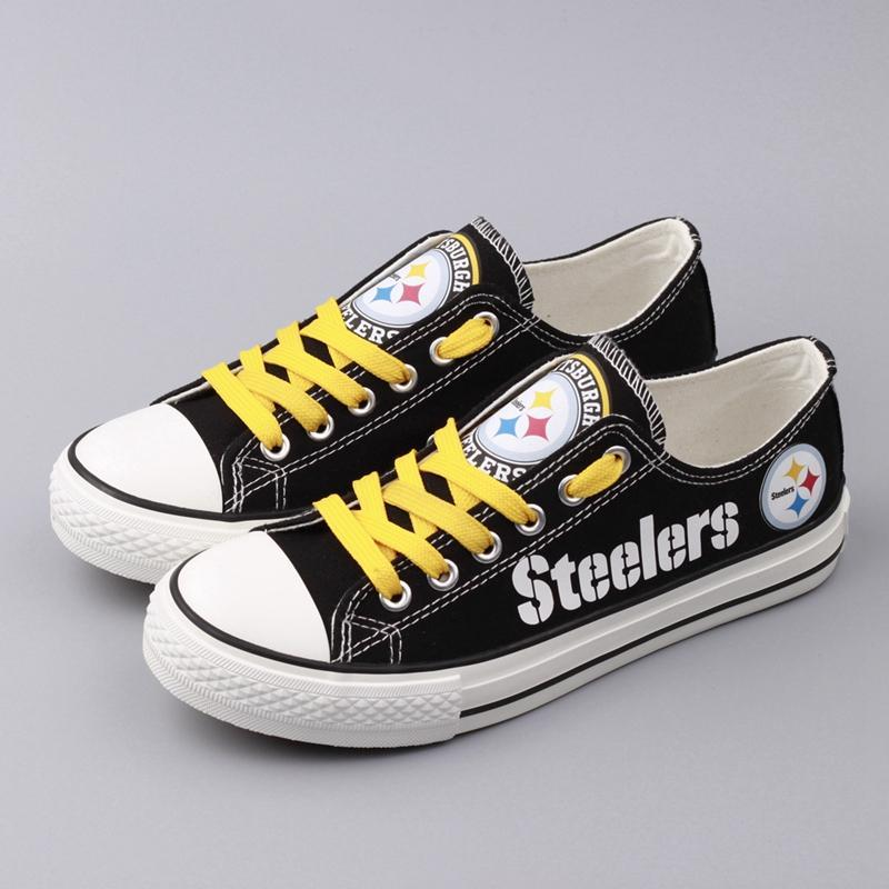 Pittsburgh Steelers Women'-s Shoes Low Top Canvas