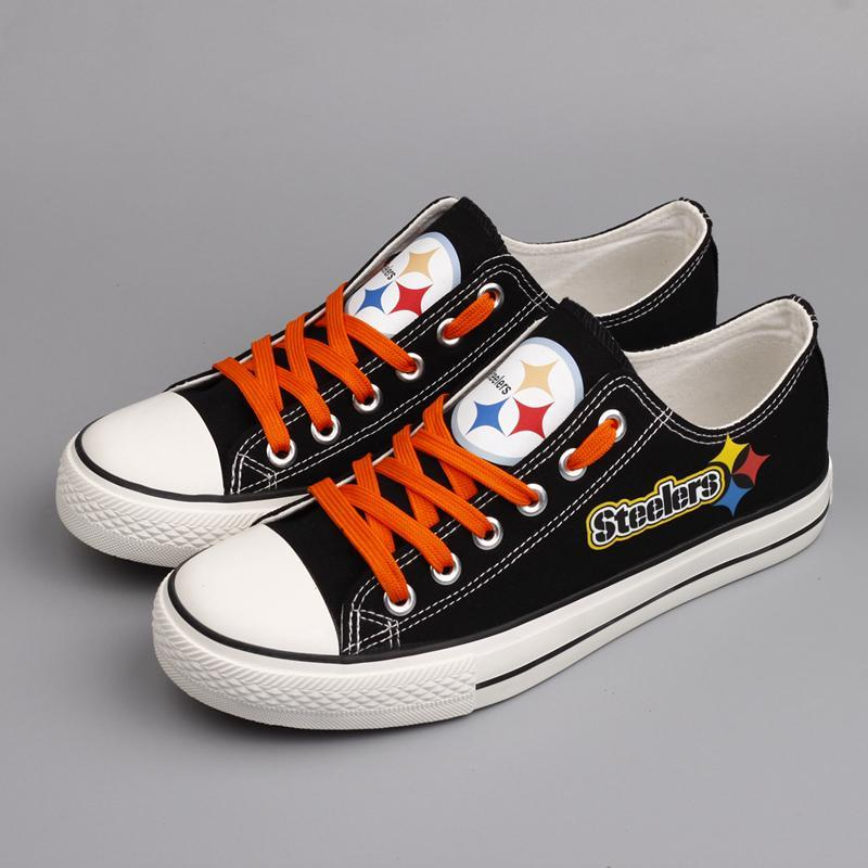 Pittsburgh Steelers Men'-s Shoes Low Top Canvas