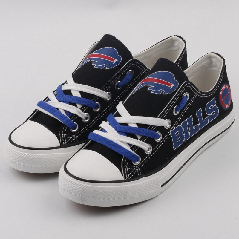 Buffalo Bills Shoes Mens Low Top Canvas