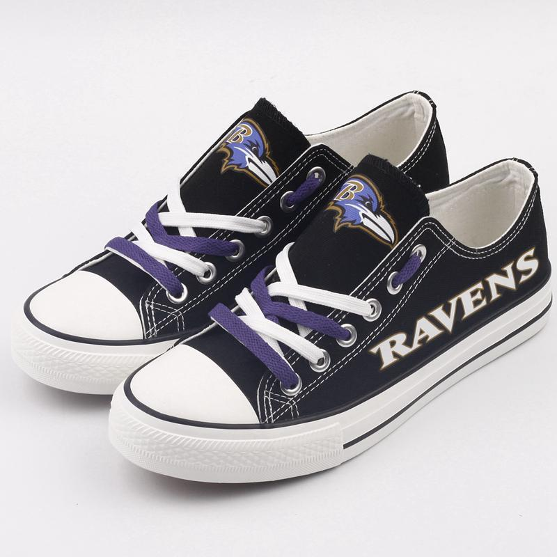 Baltimore Ravens Women'-s Shoes Low Top Canvas
