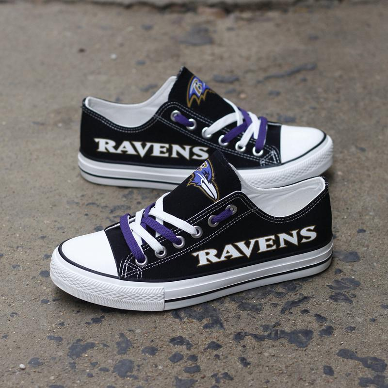 Baltimore Ravens Women'-s Shoes Low Top Canvas