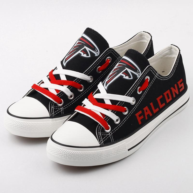 Atlanta Falcons Women'-s Shoes Low Top Canvas