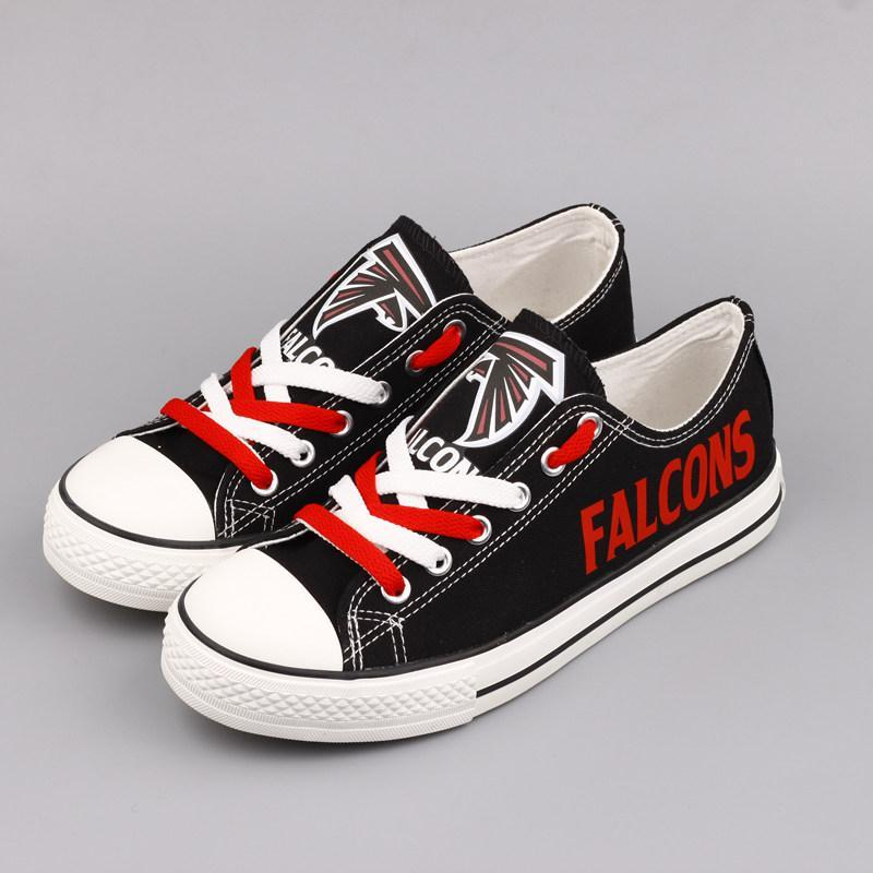 Atlanta Falcons Men'-s Shoes Low Top Canvas