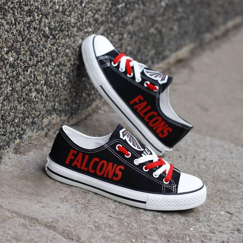 Atlanta Falcons Men'-s Shoes Low Top Canvas