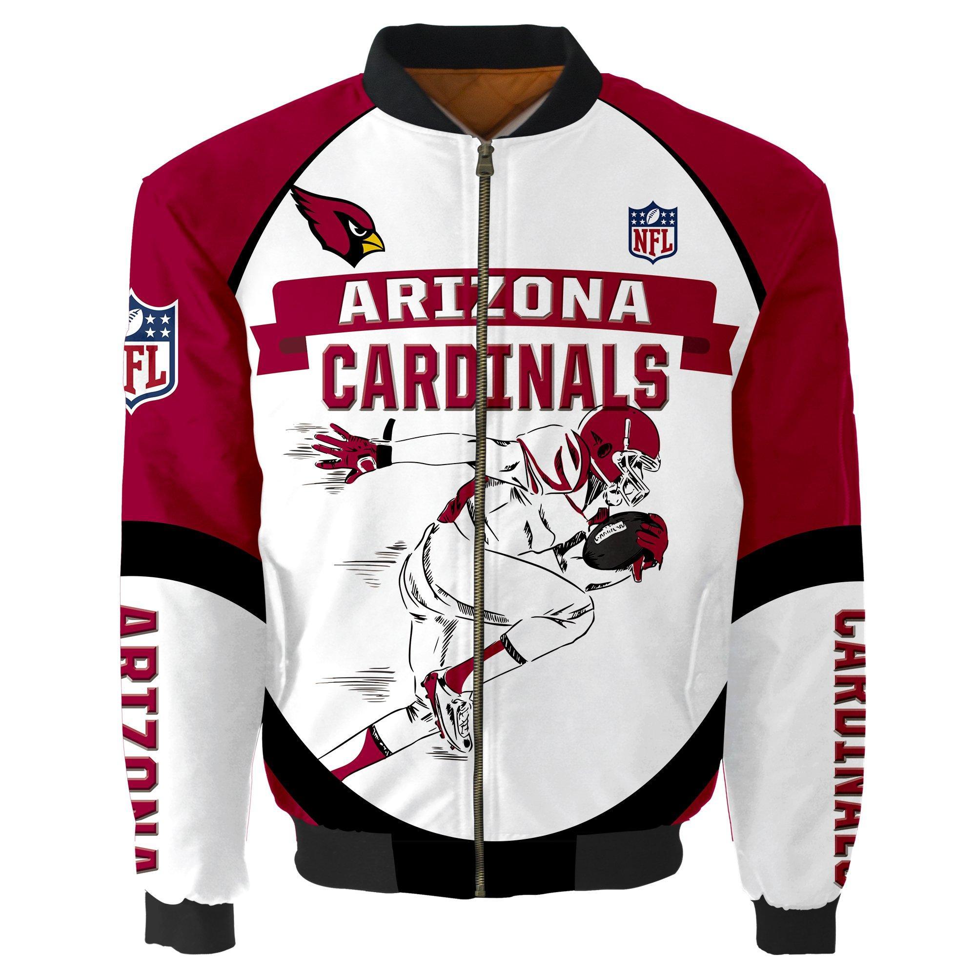 Arizona Cardinals Bomber Jacket Graphic Player Running