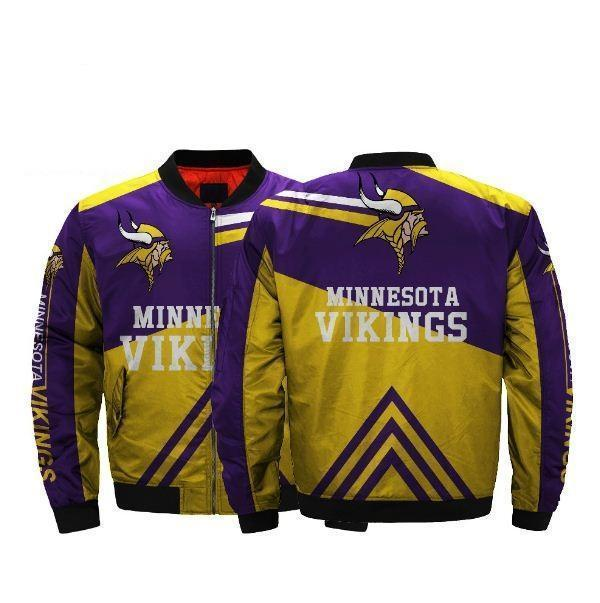 20% Off Nfl Football Men'-s Minnesota Vikings Bomber Jacket Coats