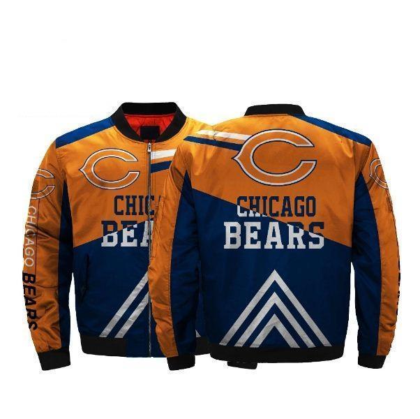 20% Off Nfl Football Men'-s Bomber Jacket Chicago Bears Jacket For Cheap