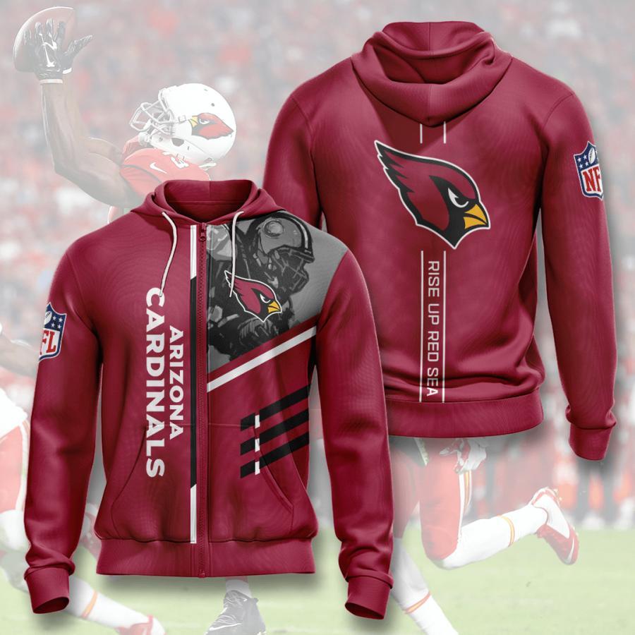 Arizona Cardinals Zip Up Hoodie 1