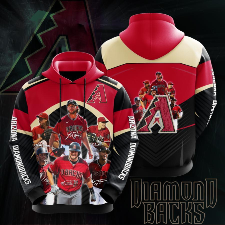 Arizona Diamondbacks 3d Hoodie 12