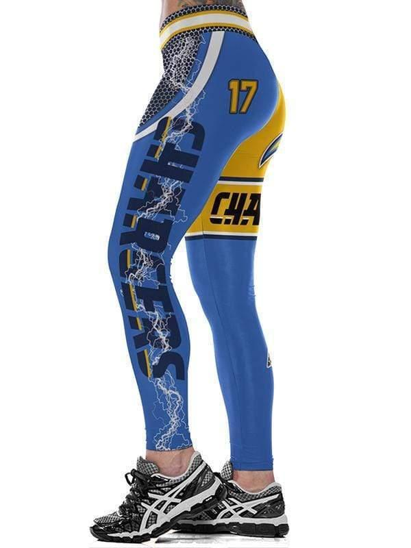 3D Los Angeles Chargers Printed Yoga Fitness Leggings