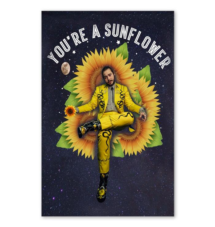you re a sunflower post malone poster