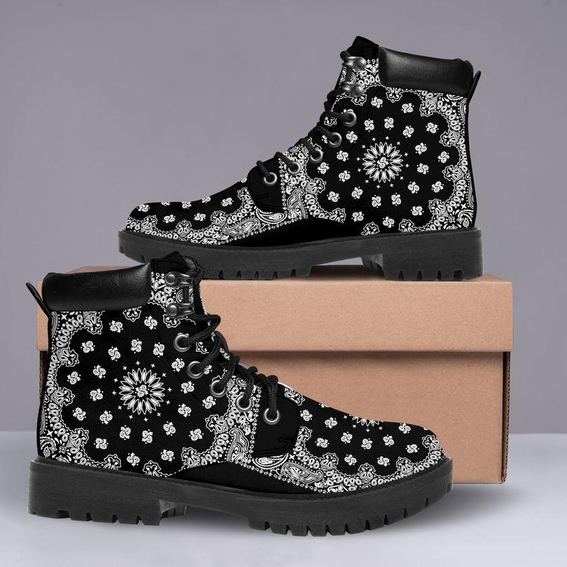 Shirtnamepro Bandana Limited Edition Classic Leather Boots Pod 7 Colors New015001